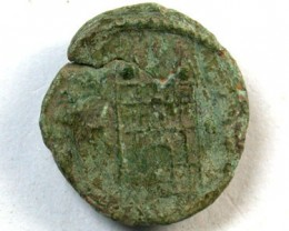 UNCLEANED LATE BRONZE ROMAN AE4s 4TH -5TH  c.AD  OP125