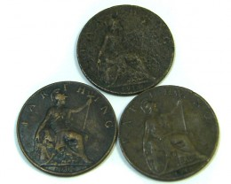 PARCEL  OF THREE FARTHINGS 1908-1918-    J12