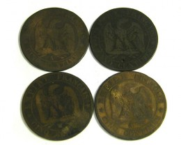 FOUR FRANCE CINQ CENTIMES 1856-1863    J22