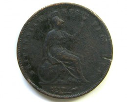 LARGE 1863 COIN ONE PENNY   J38