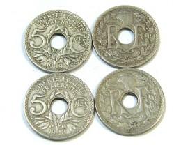 PARCEL 4 5  CEMES COINS  1918-1919   J 29