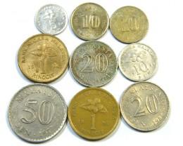 PARCEL 9 MIXED  MALAYSIAN COINS   J31