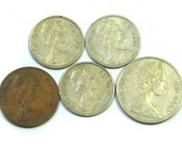PARCELFIVE FIJI COINS  196-70s  j 43