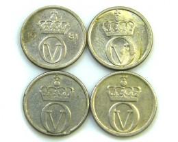 PARCEL 4 10 ORE  NORWAY  COINS   J 59