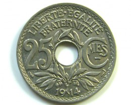 25 CMES COIN  1914      J 61