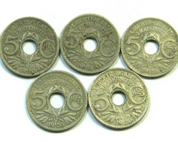 PARCEL 5 X 5 CMES COINS  1920    J 62