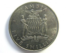 FIVE SHILLINGS ZAMBIA 1965   J 67