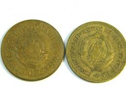 PARCEL 2 YUGOSLAVIA COINS 1963  J 88