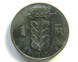 1 FRANC BELGIUM COIN 1964     J 97