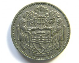25 CENTS GUYANA COIN 1967    J 103