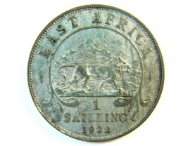 BRITISH EAST AFRICA 1 SHILLING 1922  J 116