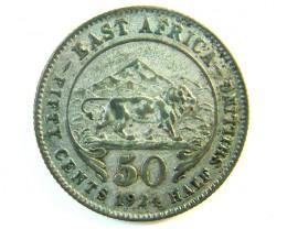 BRITISH EAST AFRICA half  SHILLING 1924    J 112