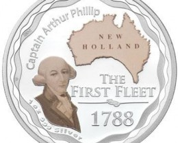 FREE SHIPPING The First Fleet 1788 1oz Silver Proof Coin