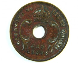BRITISH EAST AFRICA 10 CENTS  1945   J 126