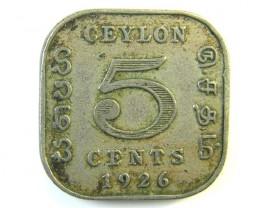 5 CENTS CEYLON 1926  J 133