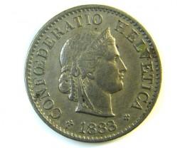5 FR SWITZERLAND  COIN 1883    J136