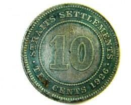 10 CENTS STRAITS SETTLEMENT 1926   J 142