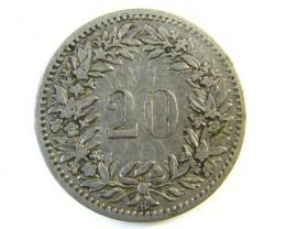20 FRANC SWITZERLAND COIN 1885  J 146