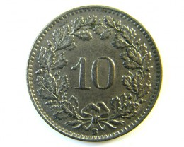 10 FRANC SWITZERLAND COIN1953  J 148