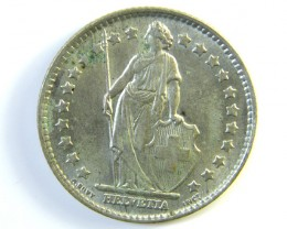 1 FRANC SWITZERLAND SILVER COIN 1964