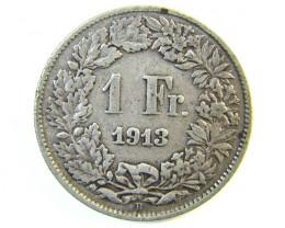 1 FRANC SWITZERLAND COIN 1913  J 156