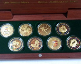 Rare Collectors 2000 Olympic Gold Coin Set
