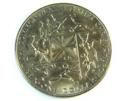 NEW ZEALAND  COMMONWEALTH GAMES 1974  COIN J 159
