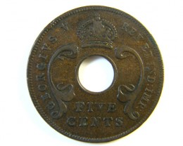 BRITISH EAST AFRICA 5CENT COIN  1925  J 170