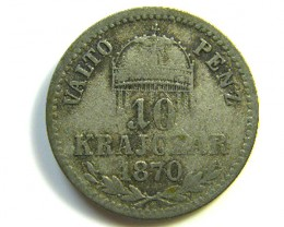 HUNGRAY 10 COIN 1870   J 177