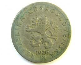 CHECKOLSOVAKIA COIN 1926    J 196