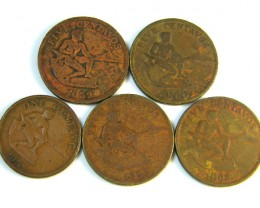 PARCEL 5 FILIPINAS COINS 1958- 1962    J 200