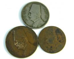 PARCEL 3 EGYPTIAN COINS 1928  J 202