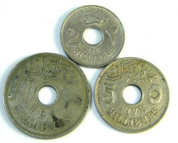 PARCEL 1916 EGYPTIAN COINS  J 203