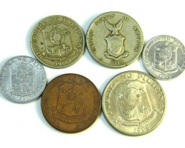 PARCEL 6 FILIPINAS COINS 1944-1968    J 204