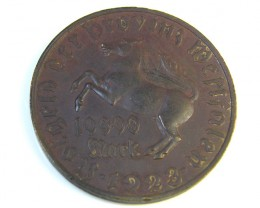 SCARCE 10,000 MARK 1923 NOTGELD WESTPHALIA COIN J 206