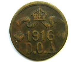 1916 GERMAN EAST AFRICA 5 HELLER COIN  J239