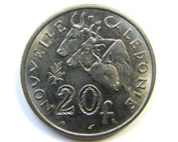 20 F NEW CALEDONIA 1972 COIN J 246