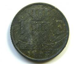 1 F BELGIUM  1942 COIN  J 250