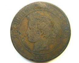 FRANCE 1877 COIN J 255