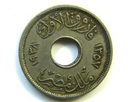 I MILLIEME EGYPT 1938 J 259