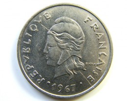 NEW HEBREDIES 1967 COIN  J268