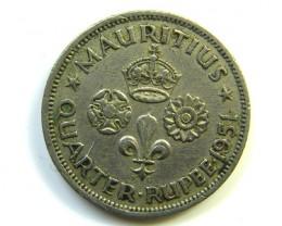 1/4 RUPEE MAURITIUS COIN 1951    J 271