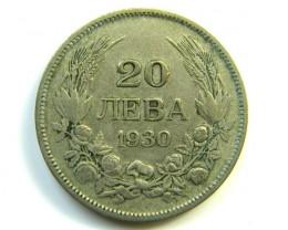 20 NEBA 1930 BULGARIA COIN J 276