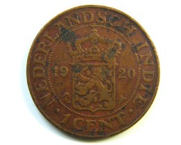 1 CENT NETHERLAND INDIES 1920 COIN J 294