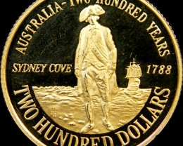 SCARCE $200 AUSTRALIAN GOLD COIN  1988 CO 29