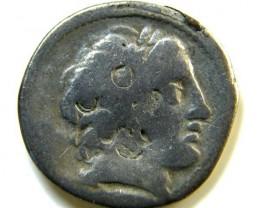 ROMAN PROVINCIAL COIN  ANONYMOUS SILVER DENARIUS  AC 47