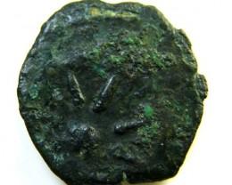 Alexander Jannaeus 103 - 76 BC bronze 15 mm lepton   AC 122