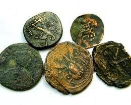 collectors starter parcel 5 ancinet bronze coins code ac 184