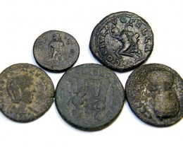lot of five very interesting Roman Provincial Bronze   AC187