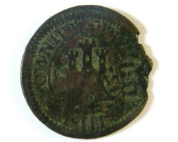 ANCIENT SPAIN L1, PHILIP III AE MARAVEDIS 1598-1621AD AC245